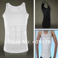 Fashion Men Slim N Lift Body Shaper Undergarment Slimming Shirt Slimming Shapewear Top Tees Free Shipping