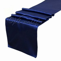 "Free shipping Navy Blue Satin Table Runner 12"" x 108"" Wedding Dec"