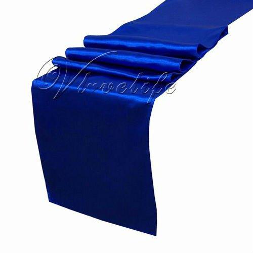 "Free shipping Royal Blue Satin Table Runner 12"" x 108"" Wedding Decor(China (Mainland))"