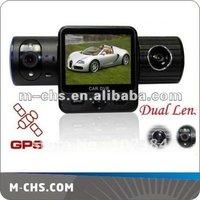5.0 Mega 1080p car black box with gps ,Dual Lens + G-Sensor + GPS + IR Light