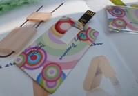 Custom design both side full colour printing logo 1GB-64GB USB credit card  memory,card USB flash drive