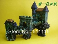 Goldfish bowl decorated packages / aquarium decorative landscaping rockery / simulation of the ancient Great Wall rockery