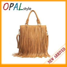 Women's Fashion Punk Fringe Tassel Handbag Shoulder Bag PU handbag wholesale and retail Promation! MM-3(China (Mainland))