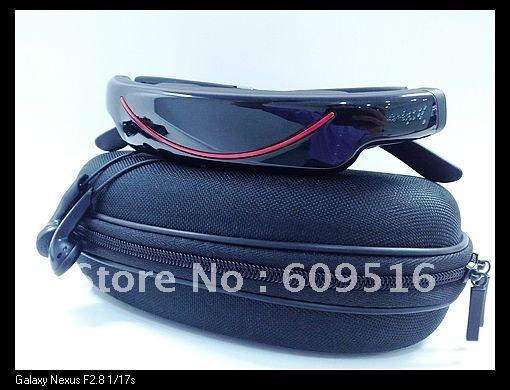 NEW 100% wholesale 72inch wireless video glasses 2GB Virtual Screen Video Eyewear +DHL free shipping(China (Mainland))