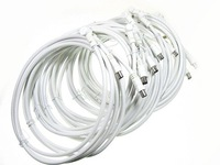 White 6.7 Ft Male to Male TV Coaxial RF Cable