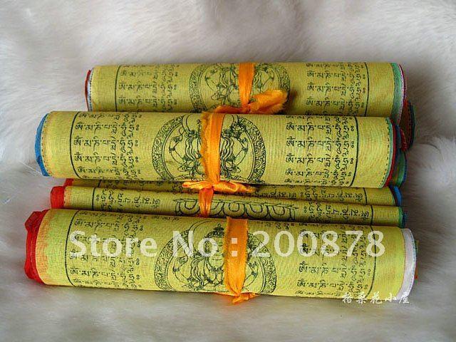 C32 Tibetan Buddhist Prayer Flags,157inches,20 sheet per set,Tibet Lung Ta Wind Hourse flag(China (Mainland))