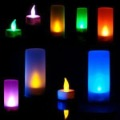 Free Shipping Top LED Electronic 7 Changing Color Candle Night Light Hot Selling Birthday Gift