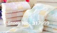 5pcs/Lot Super Soft 100% Cotton Yarn Baby's Scarf Baby's Towel 25*50CM 30g  Free Shipping!!