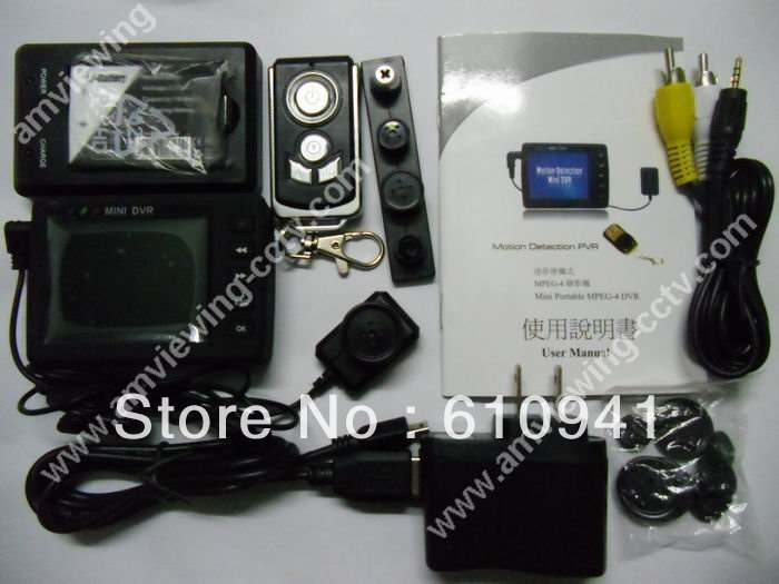 Free Shipping DHL/EMS! Motion Detection Portable dvr,Mini Pocket DVR,Remote Controller,2.5'' LCD Display(China (Mainland))