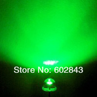 1000 PCS 5mm Straw Hat Green WATER CLEAR LEDS LED DIODE 2300-2500 mcd