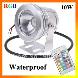 Wholesale DC 12V 10W LED RGB Waterproof High Power ip65 Round Floodlight(China (Mainland))