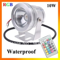 Wholesale DC 12V 10W LED RGB Waterproof High Power ip65 Round Floodlight
