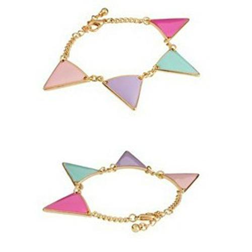 [Min. 10$] wholesale 2015 fashion Sweet house of harlow multi colors triangle fashion bracelet jewelry Free Shipping B1-102(China (Mainland))