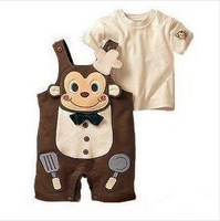 new cook The monkey  The baby boys' clothes boys' clothes  Baby Clothing  Bodysuits baby boy  Rompers 6sets/lot