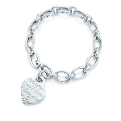 Stunning Elegance Charm Chain Bracelet,in 925 Sterling Silver,I LOVE YOU Heart Tag Charm,Elegant Link Bracelets Jewelry For Sale(China (Mainland))