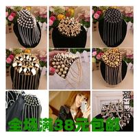 Fashion Element Spike Punk Style Tassels Brooch Clip/Shoulder Brooch Board Jewelry Men Women Show Party Decoration