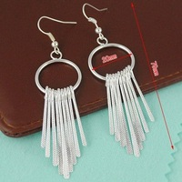 E1226 Popular joker loops tassel pendant earrings Free Shipping