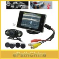 3.5&#39;&#39; TFT LCD Car Reverse Video Monitor+Wireless Rear View Security Camera+4 Parking Sensor System/ LED Light, Free Shippping