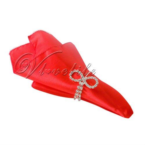 "Free shipping 100PCS Red 12"" Satin Square Handkerchief Hanky Napkins 30cm Wedding Party(China (Mainland))"