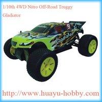 1/10th 4WD Nitro Off-Road Truggy _Gladiator hsp nitro rc car AM 27Mhz system 94110 RTR