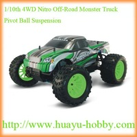 1/10th 4WD Nitro Off-Road Monster Truck-Pivot Ball Suspension:2ch 2.4G system 94188 RTR