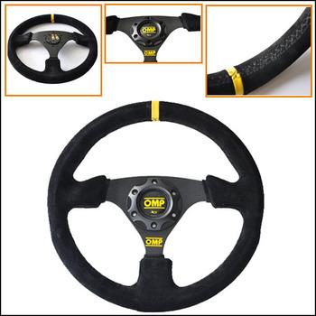 car styling 13 inch OMP Racing Steering Wheel with suede steerig wheel cover new style steering wheel