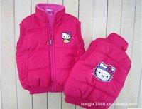 Children's clothing HOT! 100% cotton Hot hello kitty Children vest (5pcs/lot)  3colors Boy vest red Wholesale 5 pieces