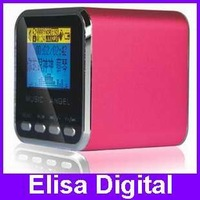 Free shipping 100% Original Music Angel Speaker,JH- MD08D mini speaker,portable speaker with FM +LCD screen,RY9006