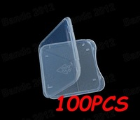100pcs/lot,High-Quality SD MS Memory Stick Pro duo Adapter Card Plastic Storage Box Holder Case