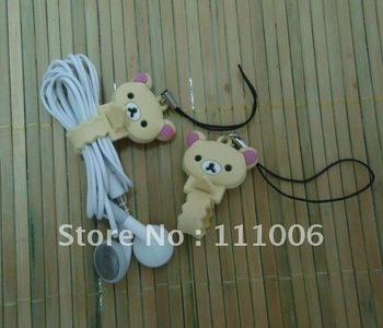10pcs/lot Free shipping,2pcs/pair Cute simple style Earphone cable Winder/Cord wire holder/coiling line device IF-0174