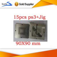 Freshipping for Ps3 Bga Reballing Stencil 90 mm 15pcs+1 set Reballing Station Scotle ht-90