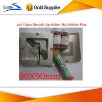 Freeshipping for Ps3 Bga Reballing kit Stencil + Reballing jig+Solder Ball +Solder Flux Amtech 223