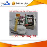 Freeshipping for Ps3 Bga Reballing kit Stencil + Reballing jig+Solder Ball +Solder Flux Amtech 223+other free gifts