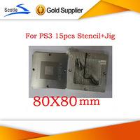 BGA Reballing Kits 15pcs 80*80 BGA Stencil for Ps3+BGA Reballing Jig