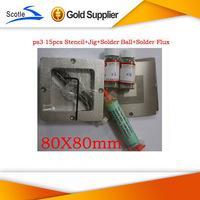 BGA Reballing Kits 15pcs 80*80 BGA Stencil for Ps3+BGA Reballing Jig+Solder Ball+Solder Flux