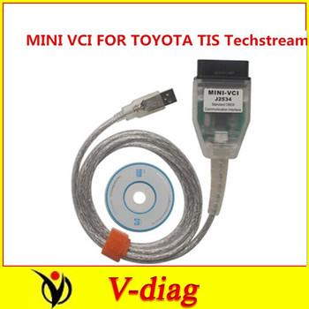 freehipping toyota mini vci tis with latest version Tech stream v8.00.034 Techstream