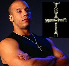 2014New Factory Price Fashion Jewelry The Fast and The Furious Toretto Men Classic Style CROSS Necklace NJ-0334