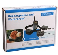Rechargeable and Waterproof 300meters Remote Electric Shock Anti-bark Pet Dog Training Collar with LCD display Freeshipping