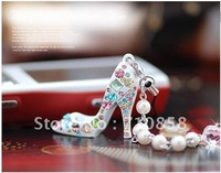 Free  shipping new arrival high heeled shoecell phone chain mobile phone chain 10pcs/lot