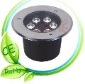 Freeshipping 6W LED ground light  Voltage 110V/220-240V, IP65 waterproof buried lighting CE&amp;ROHS with 2 years warranty