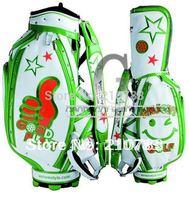 Golf bags WinWin JAPAN  PLAY STAFF CADDY Golf cart bag White/Green  Free Shipping