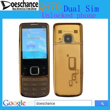 6700 Q670 Russian keyboard 2.2 screen Dual Sim Gold Unlocked phone multi-language