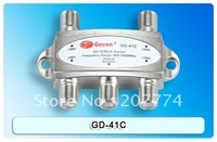 Diseqc switch 4 IN 1GD-41C 4 x 1 Satellite DiSEqC Switch for FTA DVB-S2 receivers,Freeshipping