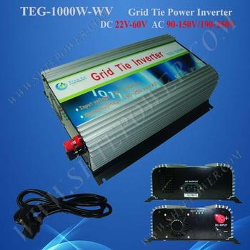 Wholesale!!1000W On Grid Inverter Free Shipping, 1000W Grid Tie Invertors 22-60v dc input