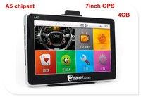 newest 7 inch GPS navigation, New skin,MTK84, A5, Dual core, 4GB Flash