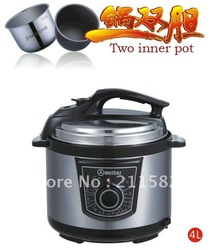 4LWGZ40-80 Two inner pot electric pressure cooker,electric cooker recipes(China (Mainland))