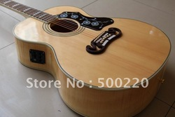 One piece neck J200VS 20TH ANNIVERSARY SJ200 Acoustic Electric Guitar maple of body,Ebony board,Fishman Pickups(China (Mainland))