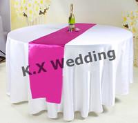 Fuchsia Color Table Runner \ Satin Table Cloth Runner
