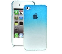 3D Raindrop Series for iPhone4(Transparent Hard Case,Blue)