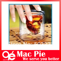 """Free shipping 1pcs/lot """"crystal skull"""" Shot Glass cup/wineglass add some paranormal to your next party"""